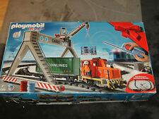 Playmobil 4085, RC Train, Eisenbahn, Güterzugset mit Ladekran, Sonderset