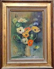 Bouquet Fleurs Renoncules Simone Mounier XX° Référencée***Tableau Signé/encadré