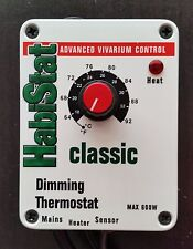 """Habistat Dimming Thermostat 600W Reptile Heat Cord Lamp Heating Control """"Black"""""""