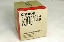 used Canon FD 50mm F1.8 manual focus Lens with original box