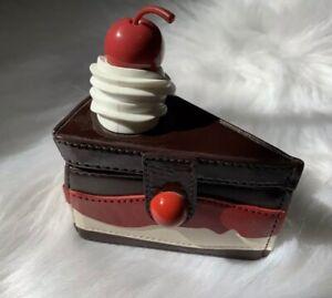 Kate Spade New York Ma Cherie Cherry Chocolate Cake Slice Coin Purse Rare HTF