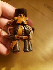 Vintage Leather Cowboy  Hat ROPE belt Keychain Leather Western WOW!! handmade