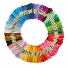 Floss Threads Dyed Spun Yarn Knitting Crochet Cross Stitch Tools Sewing Material