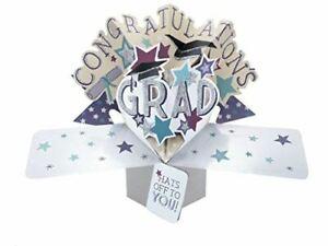 Pop Up Congratulations Lettering Graduation Card
