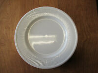 "Fitz & Floyd WHITE CLASSIC Dinner Plate 10 3/4"" Embossed Ribbed Rim  1 available"