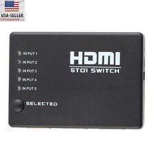 5 Port 1080p HDMI Switch Selector Splitter With iR Remote For HDTV