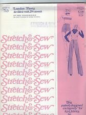 Stretch & Sew 713 Misses' London Pants 32 to 44    Sewing Pattern