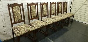 Old Charm Set Of 8 Lancaster Oak Chairs.
