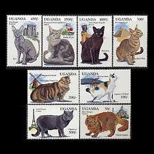 UGANDA, Sc #1242-49, MNH, 1994, Cats, AR5FSDDcx