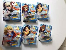 HOT WHEELS DC COMICS SUPERHERO GIRLS SUPERGIRL, HARLEY VEHICLE **LOT OF  6 ***