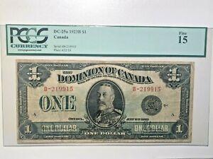 Canada, 1923, $1, DC-25a, F15 Banknote