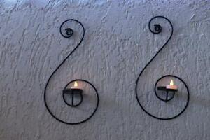 Wall Mounted Candle Holders Modern Vintage Iron Made For Wall Decoration