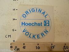 STICKER,DECAL ORIGINAL HOECHST VOLKERN LARGE