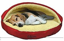 Plush Fleecy Pet Cave 64cm Soft Bed for Small Dog  Cat  Removable Top Washable
