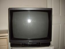 """EMERSON 32"""" Old  TV with White TV stand"""