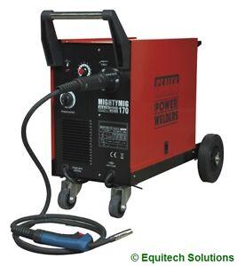 Sealey  Mightymig170 170A Gas Gasless Mig Welder & Euro Torch Wire + Tips