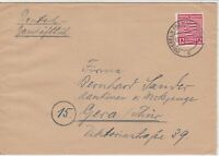 Saxony 1946 Maumemburg to Thuringia Stamps Cover  ref 23134
