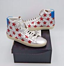 YSL Saint Laurent SL/06M Signature California Stars Metallic Mid Top Sneakers 12