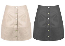 Faux Leather A-line Party Regular Size Skirts for Women