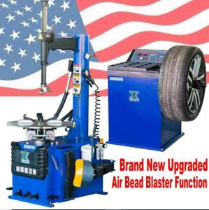 AUTO+1.5 HP Tire Changer Wheel Changers Machine Balancer Rim Clamp Combo 950 680
