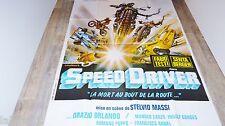 SPEED DRIVER  ! affiche cinema  1979 moto