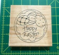 2007 Stampendous Pail Topper Rubber Stamp Happy Easter