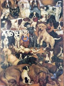 4 Sheets Puppy Dogs Puppies Dog Lover Animals Luxury Birthday Wrapping Paper