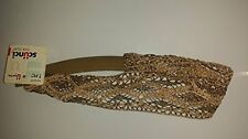 Scunci Real Style Decorative Mesh Headband Gold