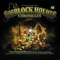 SHERLOCK HOLMES CHRONICLES - FOLGE 43: DAS FAMILIENRITUAL    CD NEU