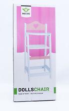 Engelhart muñecos de madera silla alta rosa/mesa + asiento blanco silla alta nuevo muñeco/embalaje original