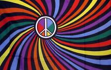 NEW-Rainbow Flag Peace Sign Symbol Swirl Gay Pride Flag 3x5 LGBTQ