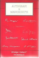 G14 Autografi e manoscritti LIM Antiqua Catalogo 67