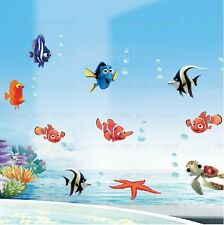Finding NEMO Wall Stickers Colourful Fish Sea Bathroom Decor Children Kids Room