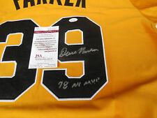 Dave Parker signed Pittsburgh Pirates sewn jersey w/ 78 MVP inscription JSA COA