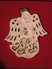 LENOX 2012 Annual Flat Ornament JOYOUS TIDINGS HOLIDAY ANGEL NEW in Red BOX