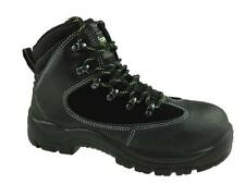 LADIES WATERPROOF SAFETY LEATHER ANKLE BOOT STEEL TOE CAP BLACK SIZE UK 6