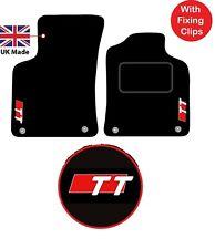Audi TT Roadster MK1 1999 to 2006 Tailored Carpet Car Floor Mats logos Clips 2pc