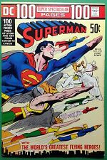Superman (1939) #252 VF+ (8.5) classic Neal Adams flying heroes wraparound cover