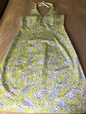 J. Mclaughlin Green Multi Paisley Print Halter Top Dress Size 8