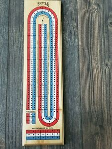BICYCLE Cribbage Board International Playing Card Co Canada French 9 Pegs 3 play