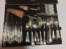 Beautiful Towle Sterling Silver Flatware Set, Old Master, Service for 12, 85pcs