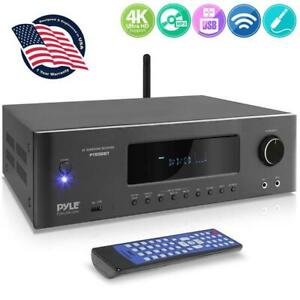 Pyle PT696BT 5.2-Ch Wireless BT Surround Sound Stereo Amplifier Streaming Home T