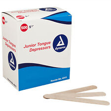 """DYNAREX Tongue Depressors Wood, Non-sterile, Junior 5 1/2"""", 500/BX free shipping"""