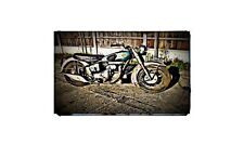 1951 sunbeam s7 Bike Motorcycle A4 Retro Metal Sign Aluminium