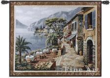 "Overlook Cafe II Sea View Ocean Landscape Wall Tapestry 53""x44"""
