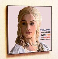Daenerys Targaryen Painting Decor Print Wall Art Poster Pop Canvas