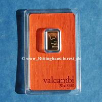 lingots d'OR 2,5g 2.5 Grammes Valcambi Suisse BLISTER or 99,99 or Bar