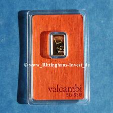 Goldbarren 2,5g 2.5 Gramm Valcambi Suisse Blister Gold 99,99 gold bar