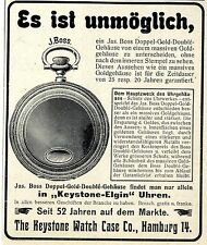 Taschen-Uhren The Keystone Watch Case Co. Hamburg/USA Keystone-Elgin Annonce1906