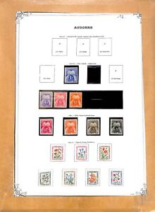 [OP3014] Andorra lot of stamps on 12 pages